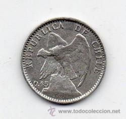 מטבע > 20סנטאבו, 1916 - צ'ילה  - obverse