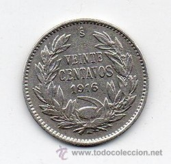 מטבע > 20סנטאבו, 1916 - צ'ילה  - reverse