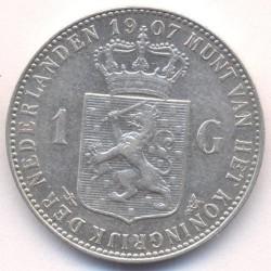 Monēta > 1guldenis, 1904-1909 - Nīderlande  - obverse