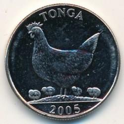 Монета > 5сенити, 2002-2005 - Тонга  - obverse
