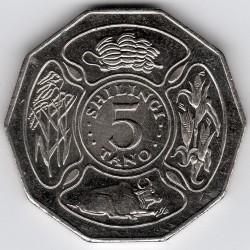 Moneda > 5chelines, 1990-1993 - Tanzania  - reverse