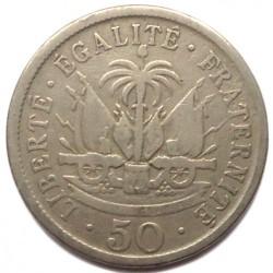 Moneda > 50céntimos, 1907-1908 - Haití  - reverse