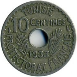 מטבע > 10סנטים, 1931-1938 - טוניסיה  - reverse
