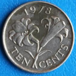 Moeda > 10cêntimos, 1978 - Bermudas  - reverse