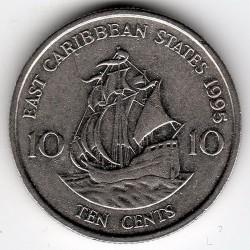 سکه > 10سنت, 1995 - کاراییب شرقی  - reverse