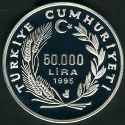 Münze > 50.000Lira, 1995 - Türkei  (525th Anniversary - Birth of Piri Reis) - obverse