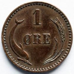 Moneda > 1öre, 1891 - Dinamarca  - reverse