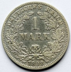 Coin > 1mark, 1892 - Germany  - obverse