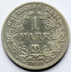 Coin > 1mark, 1892 - Germany  - reverse