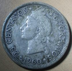 Coin > 25centavos, 1937-1961 - Dominican Republic  - reverse