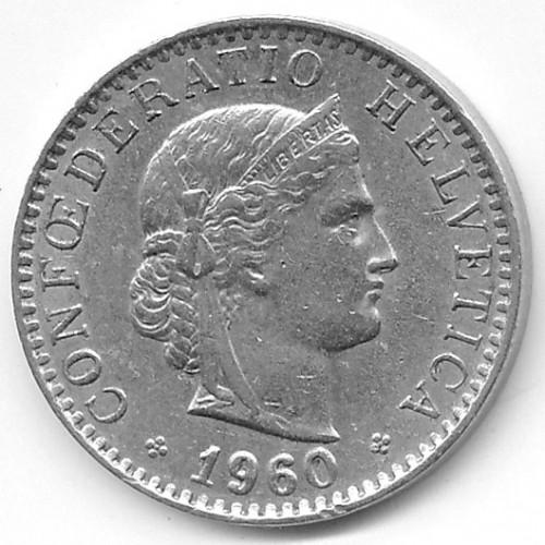 20 Rappen 1960 Schweiz Münzen Wert Ucoinnet