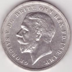 Moneta > 1 korona, 1935 - Wielka Brytania  (25th Anniversary - Reign of George V /medal  alignment, silver 0.500/) - obverse