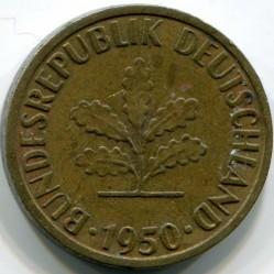 Coin > 5pfennig, 1950 - Germany  - obverse