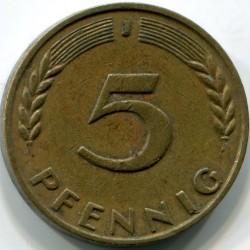 Coin > 5pfennig, 1950 - Germany  - reverse