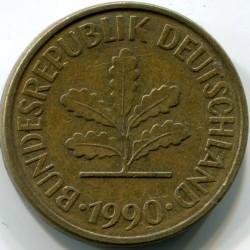 Münze > 5Pfennig, 1990 - Deutschland  - obverse