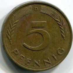 Münze > 5Pfennig, 1990 - Deutschland  - reverse