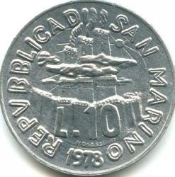 Moneda > 10lire, 1978 - San Marino  (El Treball) - obverse