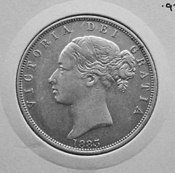 Coin > ½ crown, 1874-1887 - United Kingdom  - obverse