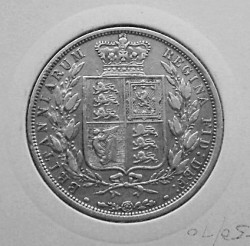 Coin > ½ crown, 1874-1887 - United Kingdom  - reverse