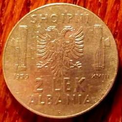 Coin > 2lekë, 1939 - Albania  (Non-magnetic) - reverse