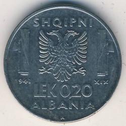Moneda > 0,2lek, 1941 - Albània  - reverse