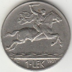 سکه > 1لک, 1926-1931 - آلبانی  - obverse