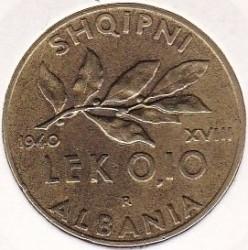 Mynt > 0,1lek, 1940-1941 - Albania  - reverse