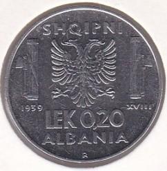 Monēta > 0.2lek, 1939-1941 - Albānija  - reverse