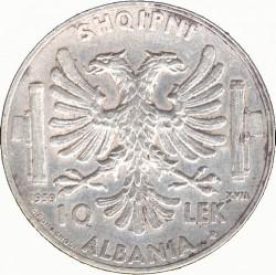 Монета > 10леків, 1939 - Албанія  - reverse