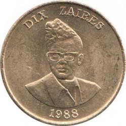 Монета > 10заиров, 1988 - Заир  - obverse