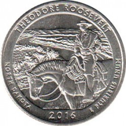Coin > ¼ dollar, 2016 - USA  (Theodore Roosevelt National Park) - reverse