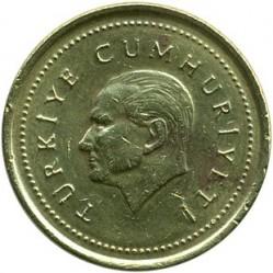 Монета > 5000лири, 1995-1998 - Турция  - obverse