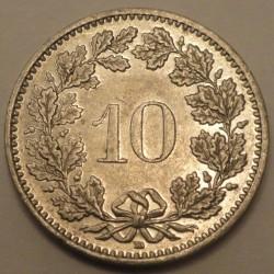 Coin > 10rappen, 1988 - Switzerland  - obverse