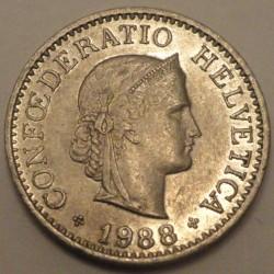 Coin > 10rappen, 1988 - Switzerland  - reverse