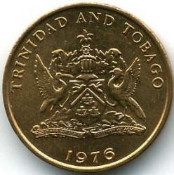 Monedă > 1cent, 1974-1976 - Trinidad și Tobago  - obverse