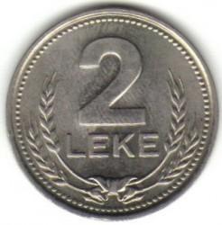 Coin > 2lekë, 1989 - Albania  - reverse
