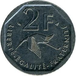 Minca > 2francs, 1997 - Francúzsko  (80th Anniversary - Death of Georges Guynemer) - reverse