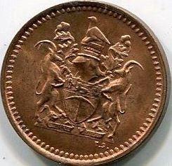 Munt > ½cent, 1970-1977 - Rhodesië  - obverse
