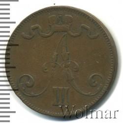 Кованица > 5пенија, 1888-1892 - Финска  - obverse