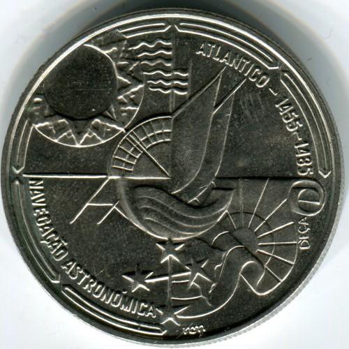Portugal 100 escudos 1990 Celestial Navigation UNC Boat