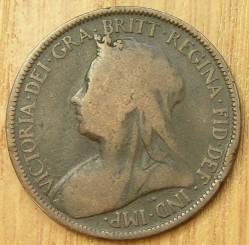 Moneta > ½pensa, 1895-1901 - Wielka Brytania  - obverse