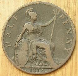 Moneta > ½pensa, 1895-1901 - Wielka Brytania  - reverse