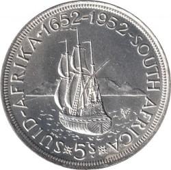 سکه > 5شیلینگ, 1952 - آفریقای جنوبی  (300th Anniversary - Founding of Capetown) - reverse