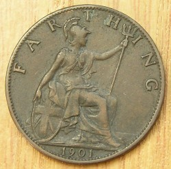 Moeda > 1farthing, 1895-1901 - Reino Unido  - obverse
