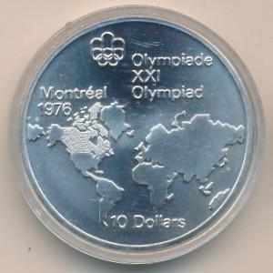 10 Dollar 1973 Map Of The World Kanada Münzen Wert Ucoinnet