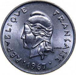 Монета > 10франков, 1967 - Французская Полинезия  - obverse