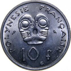 Монета > 10франков, 1967 - Французская Полинезия  - reverse