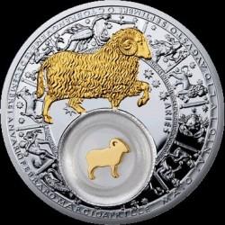 Moneta > 20rubli, 2013 - Białoruś  (Znaki zodiaku - Baran /pozłacany/) - reverse