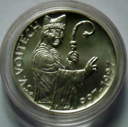 Moneda > 200coronas, 1997 - República Checa  (1000th Anniversary - Death of St. Adalbert of Prague) - reverse