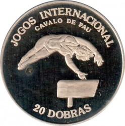 Moneta > 20dobras, 1984 - São Tomé e Príncipe  (Giochi internazionali - Ginnastica artistica) - reverse